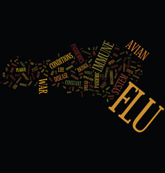 Flu threat lessons from past pandemics text vector