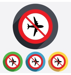 No airplane sign plane symbol travel icon vector