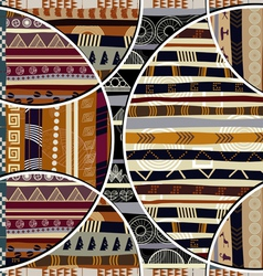 Seamless pattern in the African style vector image