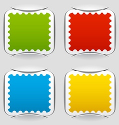 Blank attached postage papers vector