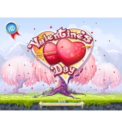 Boot screen the theme of valentines day vector