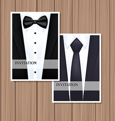 Greeting card with suit vector