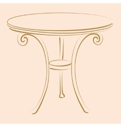 Sketched table vector