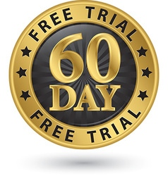 60 day free trial golden label vector