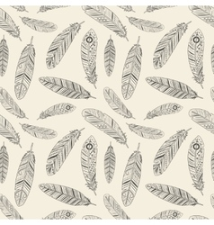 Hand-drawn feather texture vector