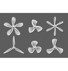 Propeller icons vector image