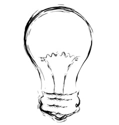 Line art of lightbulb2 vector