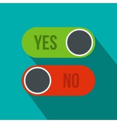 Yes and no button icon flat style vector