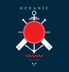 Sailing nautical icon color vector