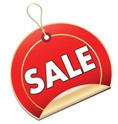 Sale Swing Tag vector image