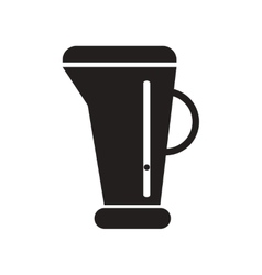 Flat icon in black and white style beaker vector