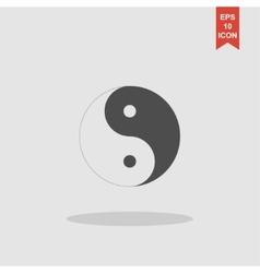 Yin yang symbol - black and white vector