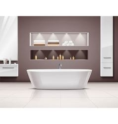 Bathroom interior realistic design vector
