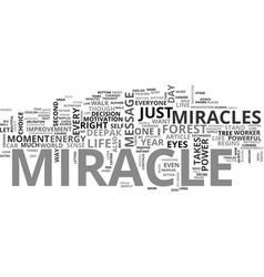 Be that miracle text word cloud concept vector