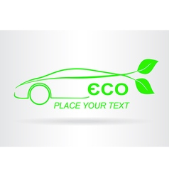 Car eco 006 vector