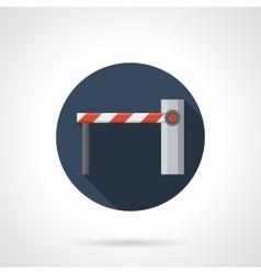 Checkpoint barrier round flat icon vector
