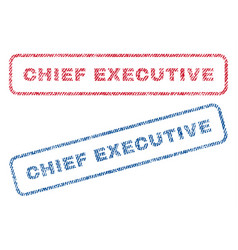 Chief executive textile stamps vector