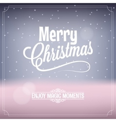 Christmas card magic night background vector