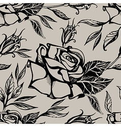 Flower rose seamless 1 vector