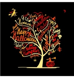 Halloween tree for your design vector
