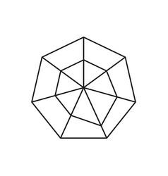 Hexagon graph icon vector