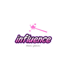 Influence word text logo icon design concept idea vector