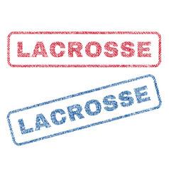 Lacrosse textile stamps vector