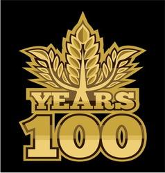LaurelNew New 100 godina resize vector image