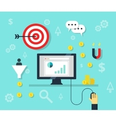 Online marketing concept internet bisiness and vector image