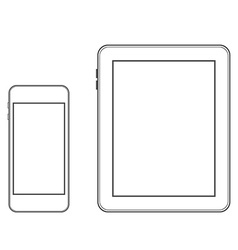 Phone and tablet templates vector image