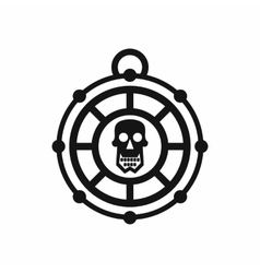 Pirate amulet icon simple style vector
