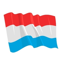 Political waving flag of luxemburg vector