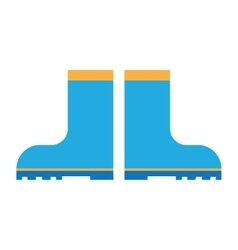 rain boots flat icon vector image vector image