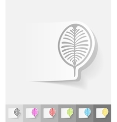 Realistic design element palm jebel ali vector