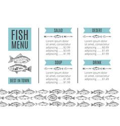 Seafood design fish menu vector