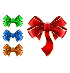 Set bow in different color vector image