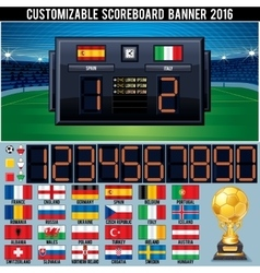 Soccer customizable scoreboard vector