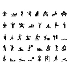 Sport Stick Figure vector image