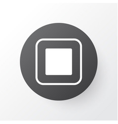 Stop music icon symbol premium quality isolated vector