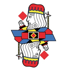 Stylized king of diamonds no card vector