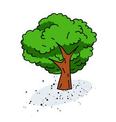 Tree cartoon hand drawn image vector