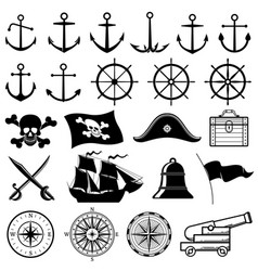 vintage nautical marine navy pirate vector image