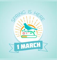 1 march - spring vector