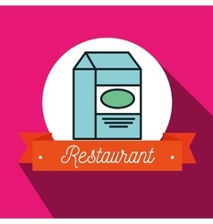 Box milk carton restaurant vector