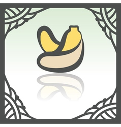 Outline banana fruit icon modern infographic logo vector