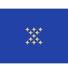 Stars letter x logotype luxury abc icon vector