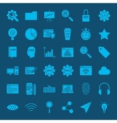 Website development glyphs icons vector