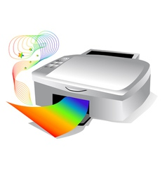 Printer with colored paper vector
