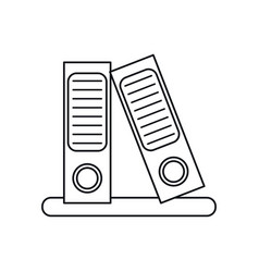 Folder document archive folio office outline vector