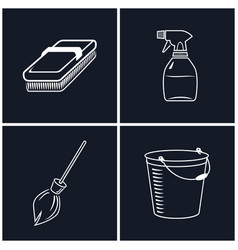 Set of cleaning icons vector